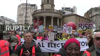 LIVE: Yellow vest anti-austerity protest hits London