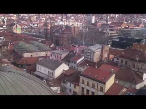 Sarajevo, Bosnia  - view from the minaret