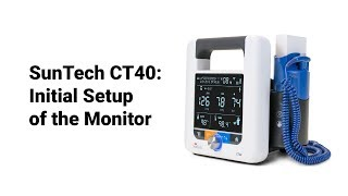 SunTech CT40: Initial Setup of Monitor (1 of 9)