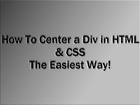 How to center a div in html css easiest way youtube for Css center div