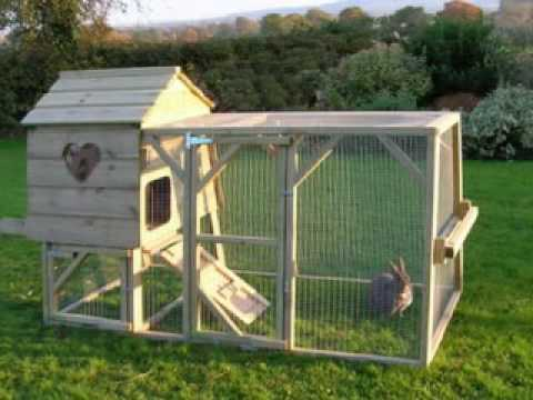 13 big rabbit hutches youtube for Homemade bunny houses
