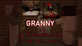 Monster School: GRANNY VS SLENDERINA!! HORROR GAME CHALLENGE - Minecraft Animation