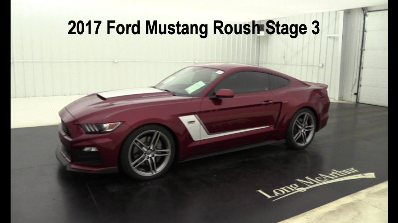 2017 ford mustang roush stage 3 youtube. Black Bedroom Furniture Sets. Home Design Ideas