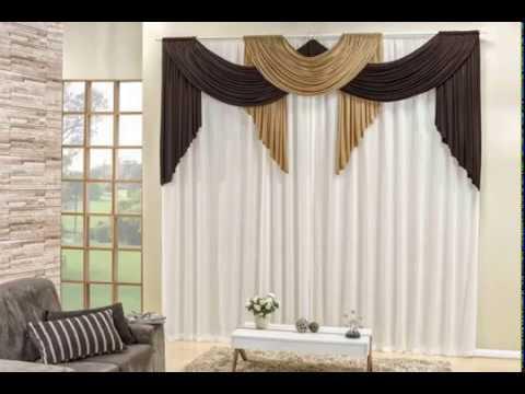 Cortina sala moderna decorada esperan a youtube for Cortinas navidenas para sala