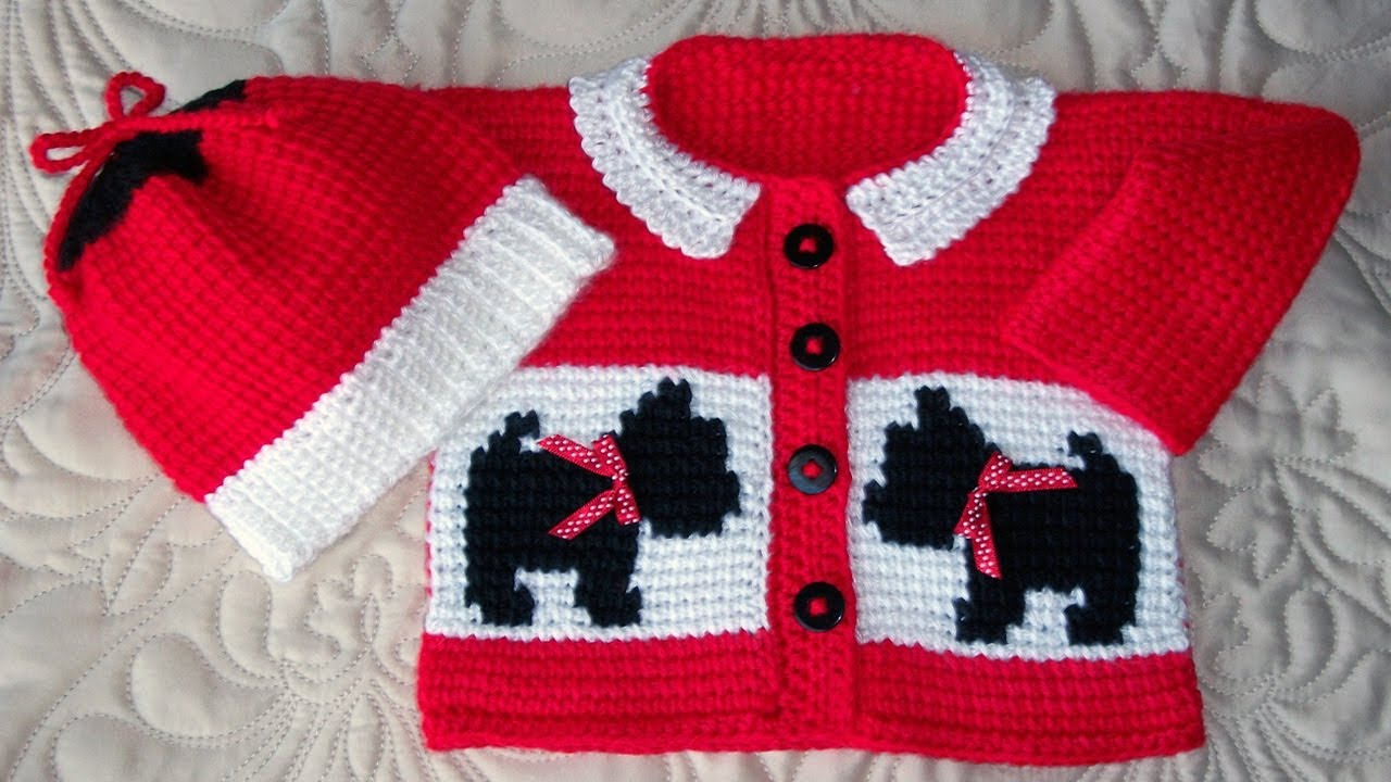 51cb2c575819 crochet baby boy sweater tutorial - YouTube