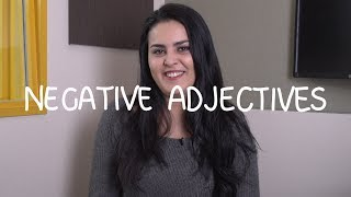 Weekly Spanish (Mexican) Words with Alex - Negative Adjectives