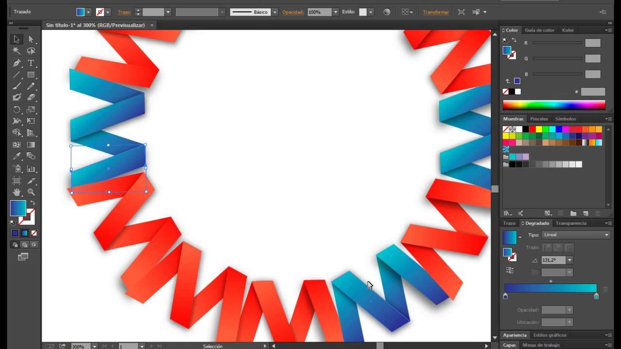 illustrator copiar colores y degradados de otras formas - YouTube
