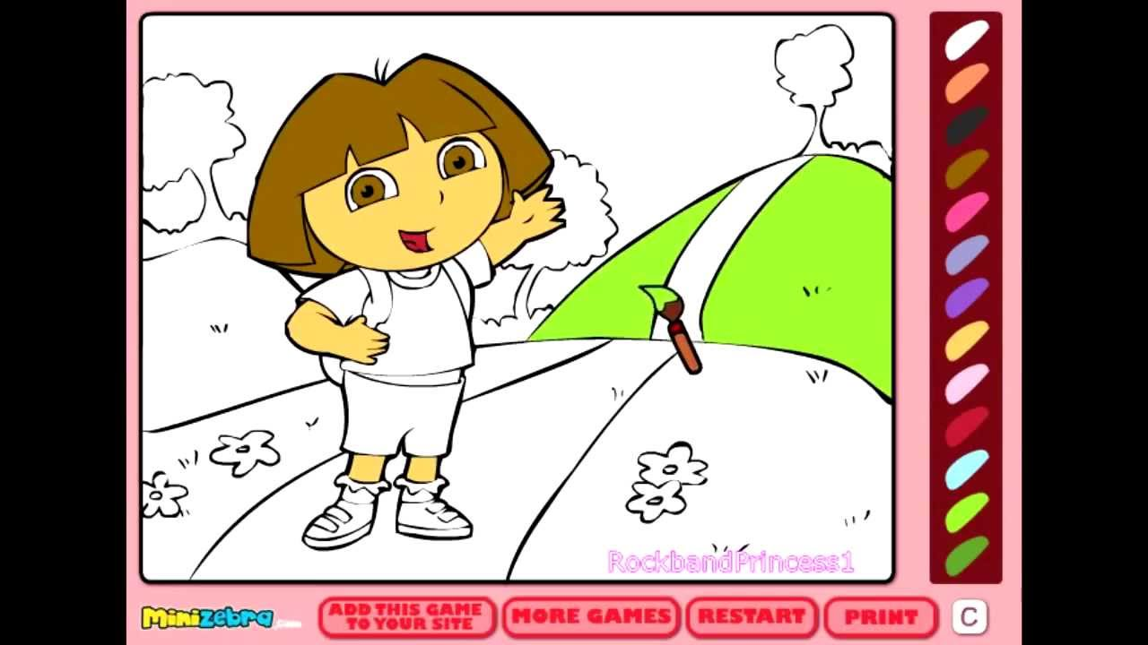 Free Dora Coloring Games Online Coloring Pages For Kids Online