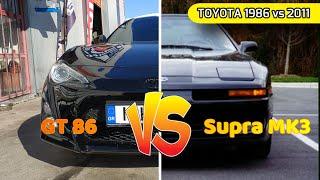 GT86 vs SUPRA MK3  - Toyota 2011 vs 1986 - 4U-GSE vs 7MGTE