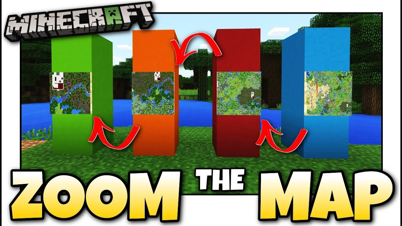 Minecraft - HOW TO ZOOM YOUR MAP [ Tutorial ] MCPE / Xbox / Bedrock / Java