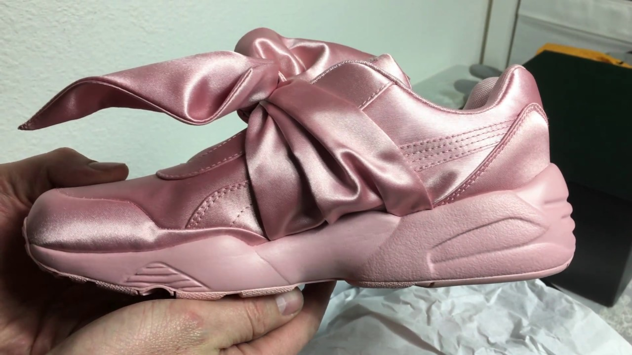timeless design a3743 02374 Rihanna x Puma Fenty Bow Collection Pink Unboxing