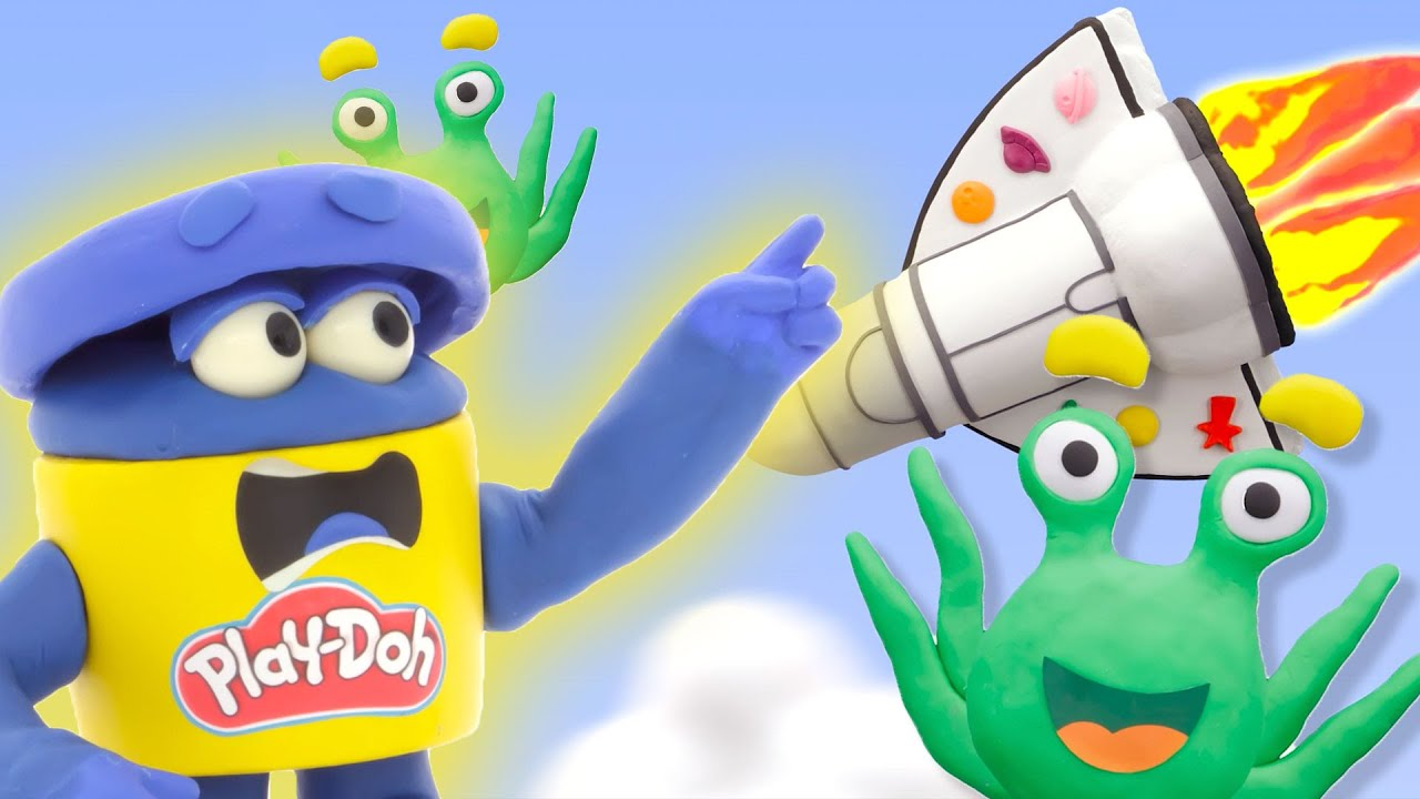 Play Doh Videos 🚀 Space Race Adventure! Meet the Aliens 🚀 Stop Motion | The Play-Doh Show