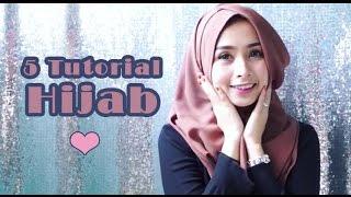 Tutorial Shawl | 5 Simple Style Shawl Tutorial | hijab tutorial
