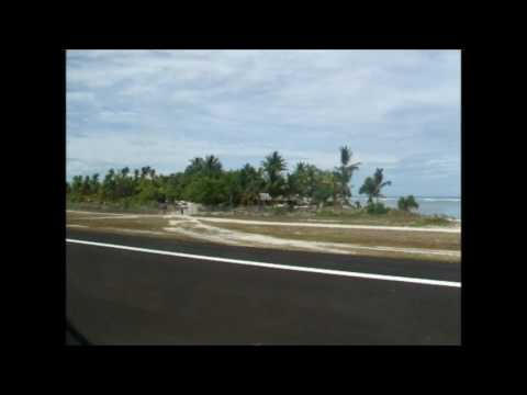 take off from Tarawa atoll in Kiribati