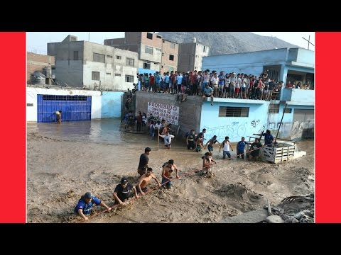 2017 RAW FOOTAGE Absolute Chaos in Seconds  PERU ULTRA FAST FLASH FLOODS
