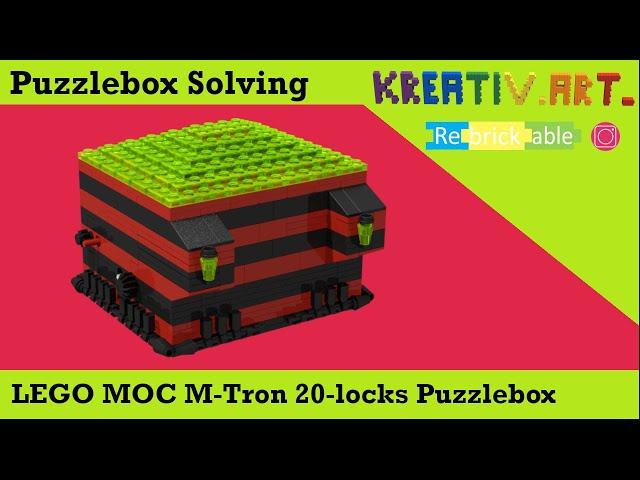 LEGO® MOC M-Tron 20 locks Puzzlebox | Solving English