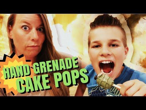 How To Make Cake Pops Video Tutorial - Hand Grenade Cake Pops 💥