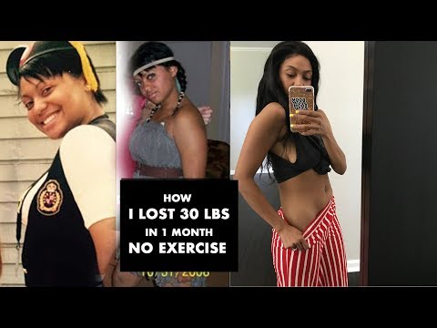 How to lose Weight without exercise | i lost 30 pounds in a month