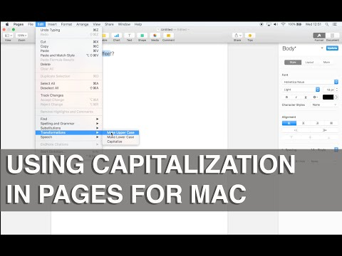 How to use capitalization in Pages on Mac - Apple Training