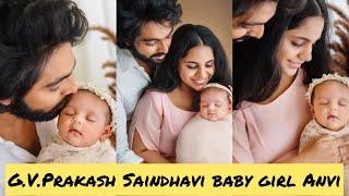 G.V.PRAKASH SAINDHAVI BABY GIRL ANVI PHOTOSHOOT