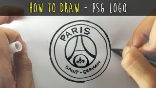 How to Draw a Cartoon - PSG Logo (Tutorial Step by Step)