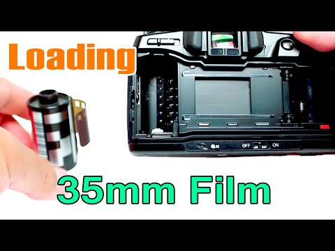 Loading 35mm Film into Minolta 700si - YouTube