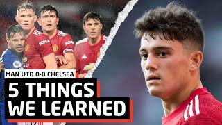 Dan James Can't Play   5 Things We Learned vs Chelsea   MUN 0-0 CHE