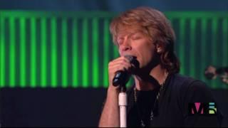 Bon Jovi performing Leonard Cohen's Hallelujah.