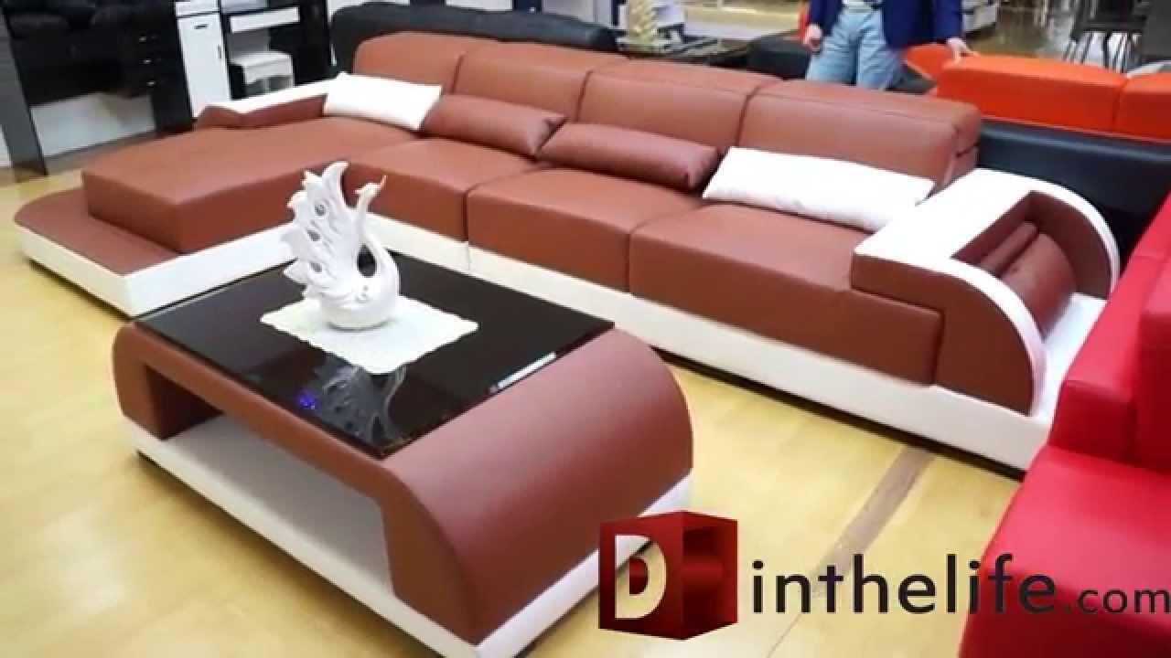 Divani Moderni In Pelle Design.Divano Sofa Angolare Penisola Moderno In Pelle Design Salotto
