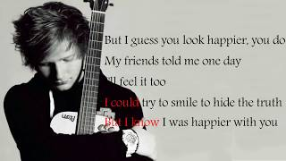 Ed Sheeran Happier (Lyrics)