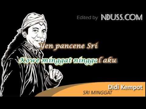 [Karaoke] Didi Kempot - Sri Minggat (Minus One / No Vocal)