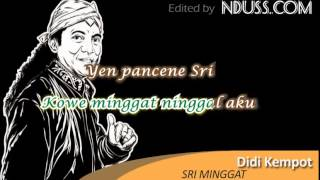 [Karaoke] Didi Kempot - Sri Minggat (Minus One / No Vocal)