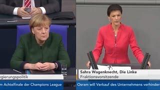 Сара Вагенкнехт:  Госпожа Меркель, неужели вас совсем покинул разум?  [Голос Германии]
