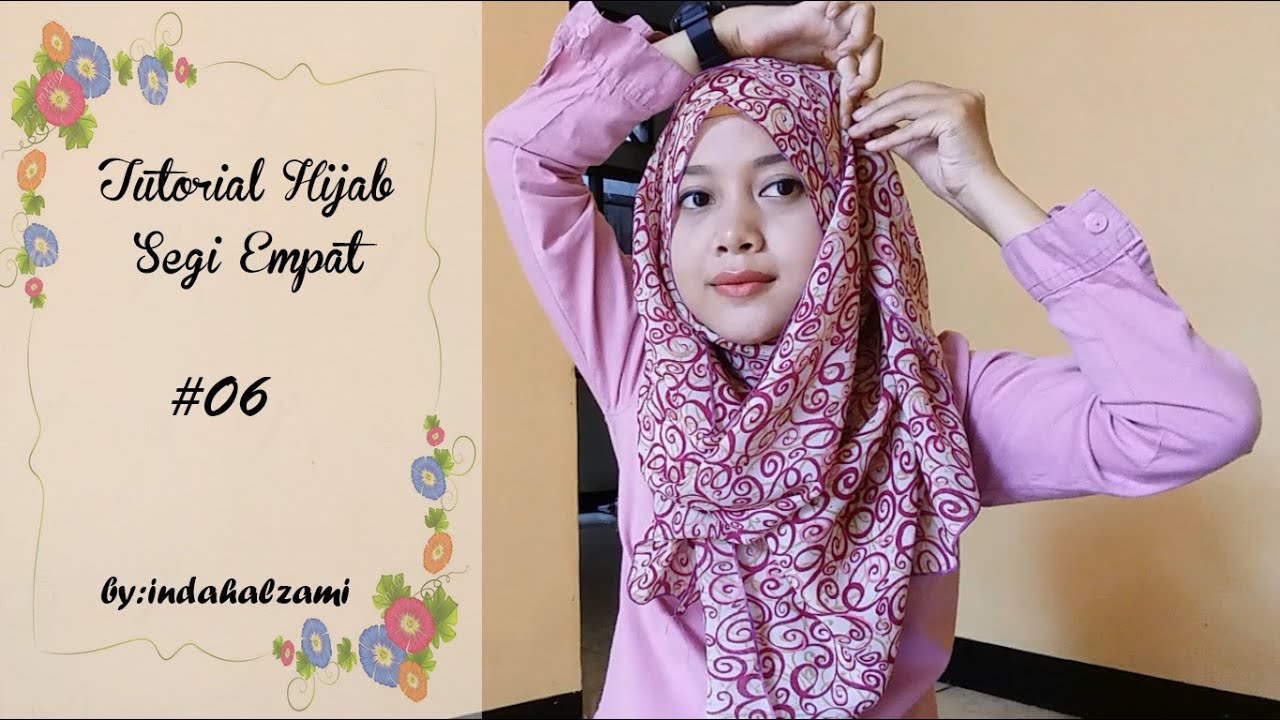 Tutorial Hijab Segi Empat 6 Indahalzami YouTube