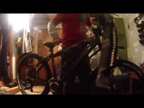 Hunting On A Mountain Bike And Side Scabbard On A Bike.