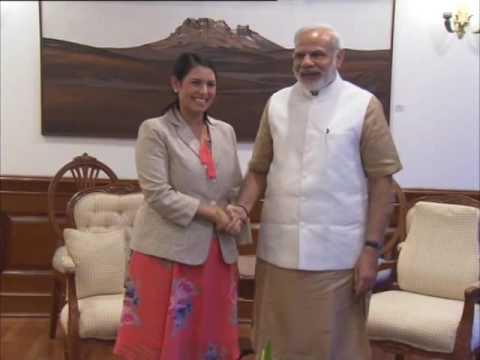 UK secretary of state for international development calls on Indian PM Modi