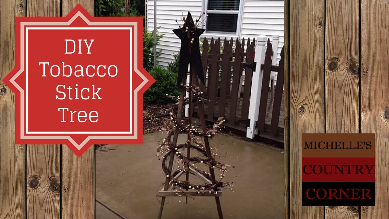 DIY Tobacco Stick Tree - Easy Project - YouTube
