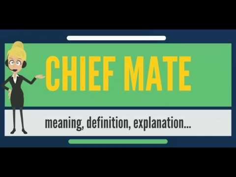 What is CHIEF MATE? What does CHIEF MATE mean? CHIEF MATE meaning, definition & explanation