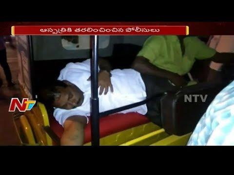 Drunk and Drive: Drunken Man High Drama at LB Nagar || Acts Like Heart Attack || NTV