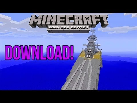 Minecraft Xbox 360 Edition Battleship DOWNLOAD!