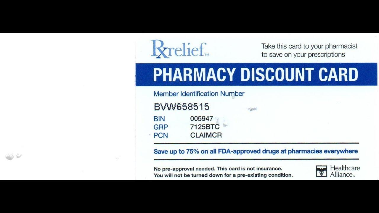 Healthcare alliance rxrelief - Health care alliance free prescription cards
