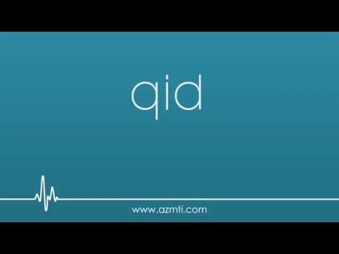 CNA Abbreviations: qid