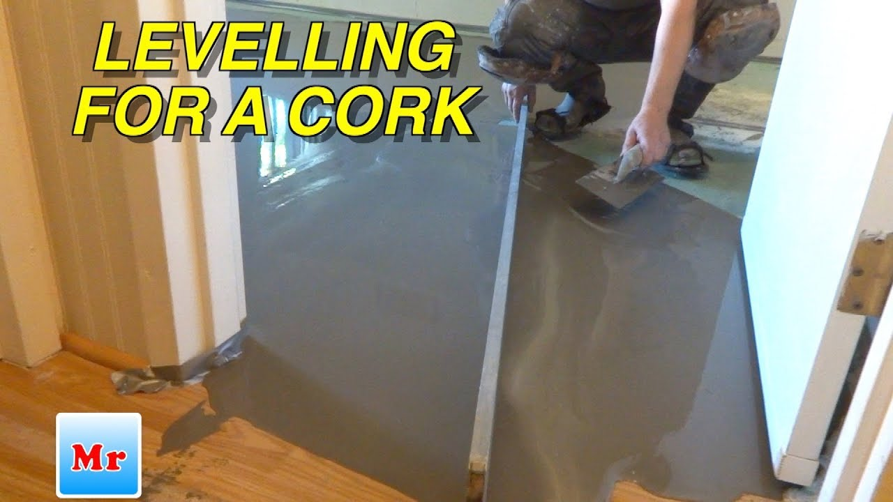 Concrete Leveling With Straight Edge For Laminate Cork Flooring Installation