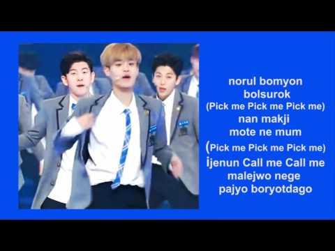 Produce 101 (Boys) - Me, It's Me (Pick Me)(Romanization/EASY LYRICS /letra facil)