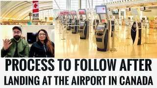What happens at Airport in CANADA during first Landing!!