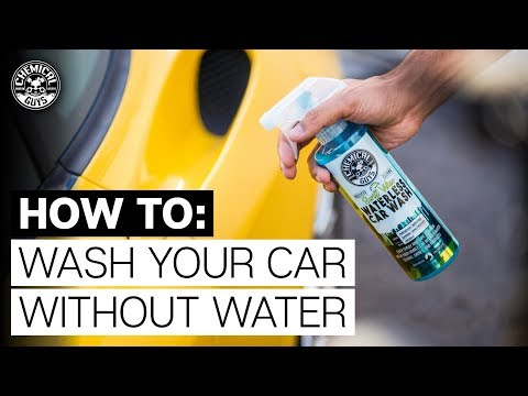 How to Wash Your Car Without Water - No Hose Waterless Car Wash - Chemical Guys
