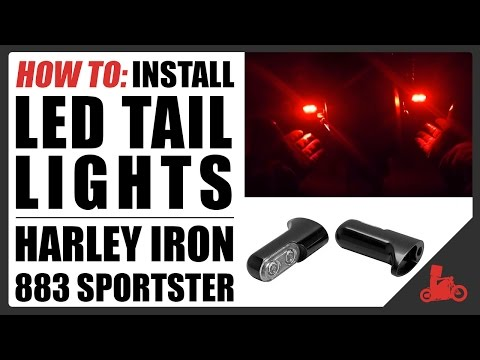 how-to:-led-tail-light-install-/-remove-stock-tails---harley-iron-883-sportster