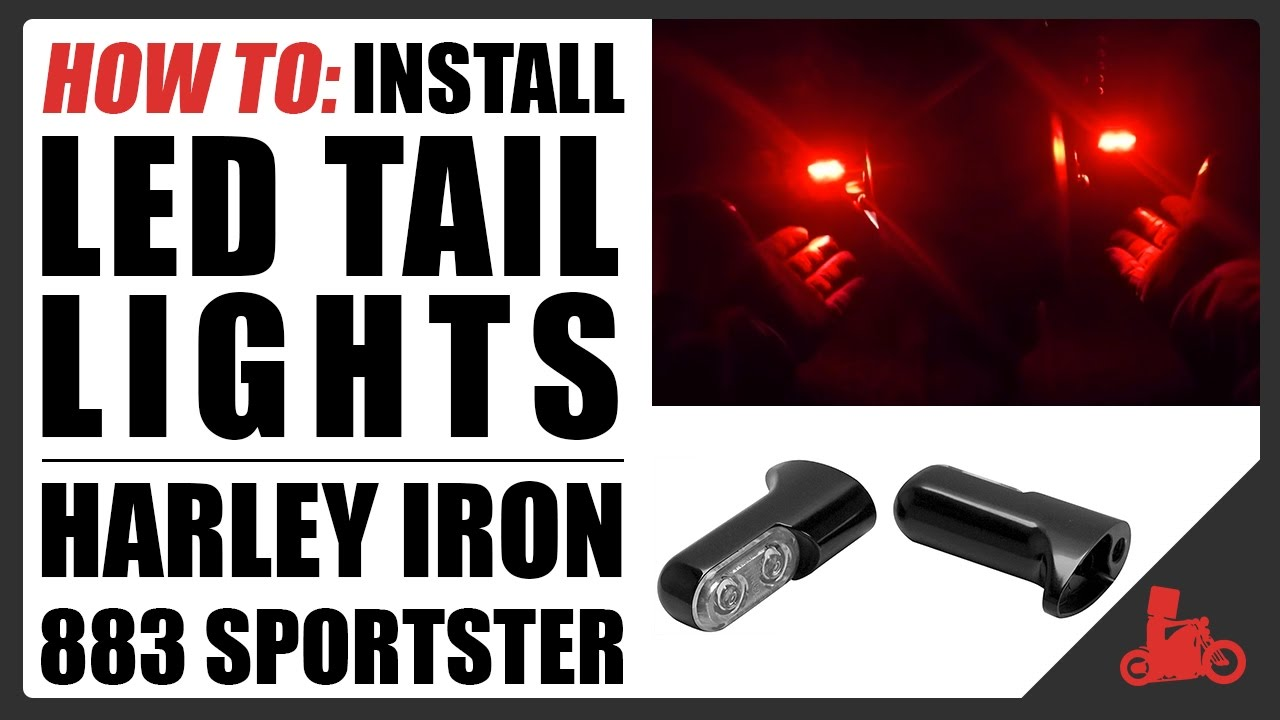 how to: led tail light install / remove stock tails - harley iron 883  sportster
