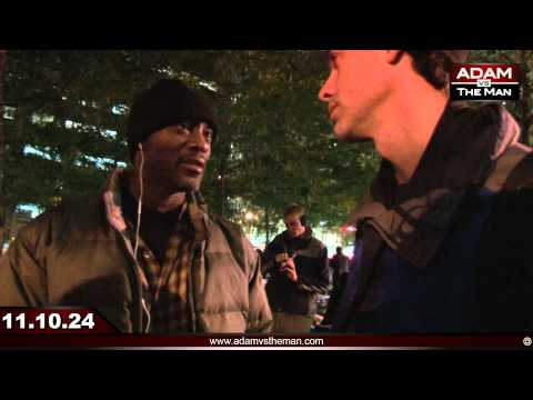 Homeless man threatens to evict Occupy Wall Street #OWS