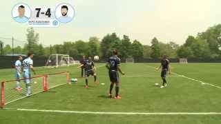 FOOTBALL TENNIS Team Aguero v Team Villa New York Challenge